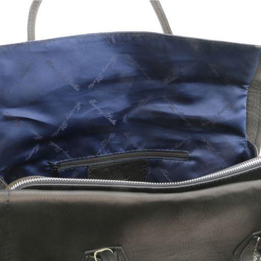 TL Bag Borsa morbida con nappa e tracolla Testa di Moro TL141091
