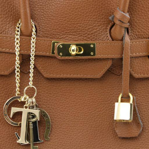 TL KeyLuck Borsa a mano media con accessori oro Talpa chiaro TL141092