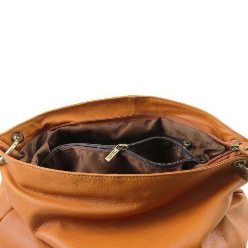 TL Bag Borsa morbida a tracolla con nappa Cannella TL141110