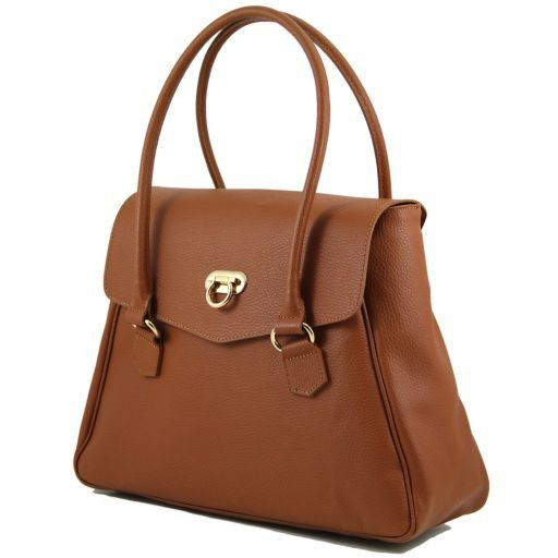 TL Bag Borsa donna in pelle stile bowling Rosso TL141120