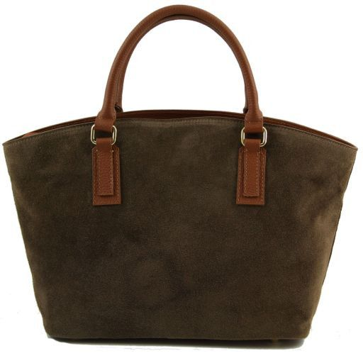TL Classy Lady suede leather bag - Small Forest Green TL141127