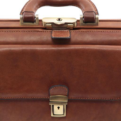 Leonardo Esclusiva borsa medico in pelle Marrone FC141143