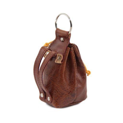 Esclusivo zainetto portachiavi in pelle Arancio TL141157
