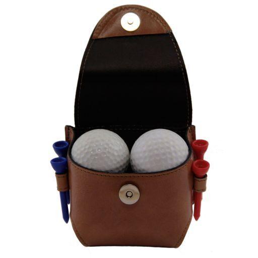 Esclusivo porta palline da golf 4 palline Marrone TL141161