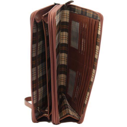 Tiberio Esclusivo portadocumenti in pelle Marrone FC141179