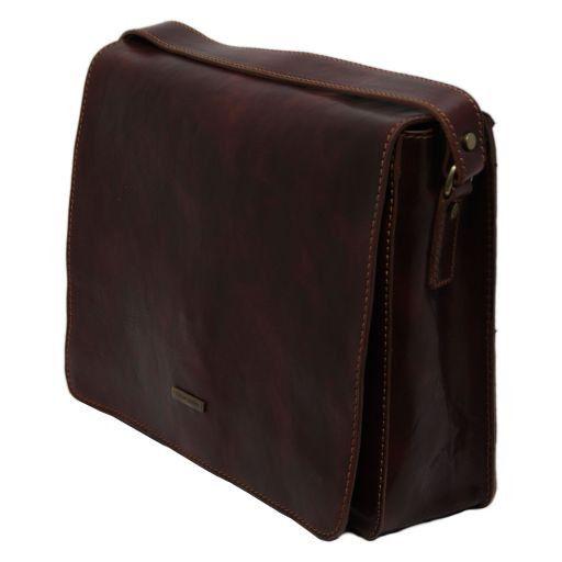 Lucca Esclusiva cartella porta notebook in pelle 2 scomparti Marrone TL141184