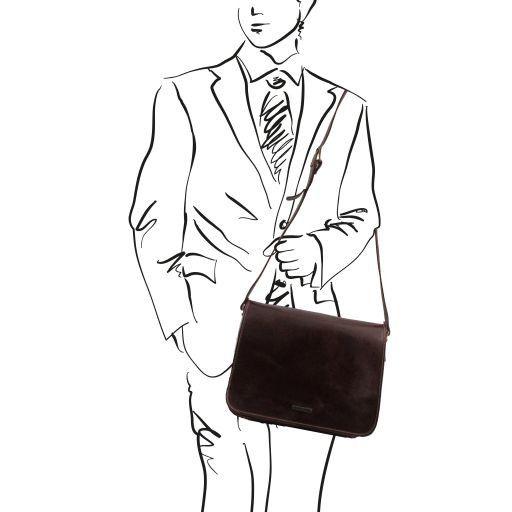 Messenger New style - Borsa in pelle - Misura grande Rosso TL141198