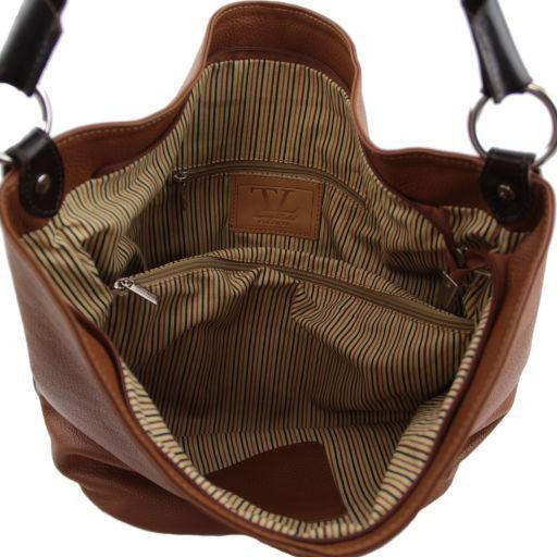 TL Bag Borsa secchiello da donna in pelle Beige TL141201
