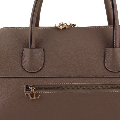 TL Bag Bauletto in pelle con accessori oro Cognac TL141210
