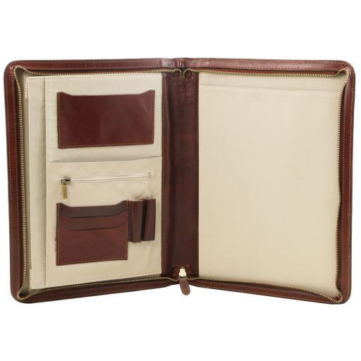 Ottavio Leather document case Red TL141214