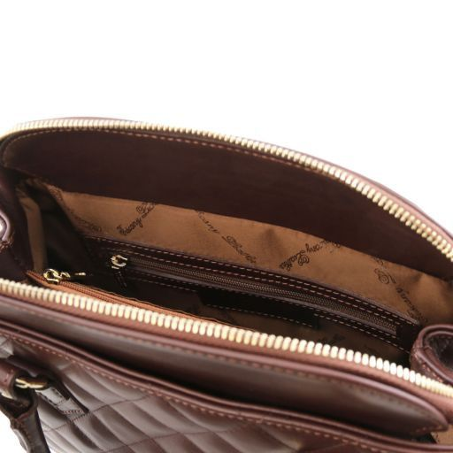 TL KeyLuck Soft quilted leather duffle bag Brown TL141222