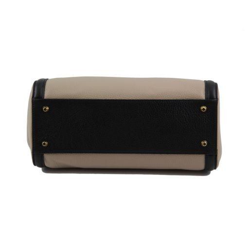 TL Bag Multicolor leather handbag Black TL141225