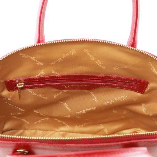 TL KeyLuck Borsa shopper in pelle Saffiano - Misura Grande Rosso scuro TL141229