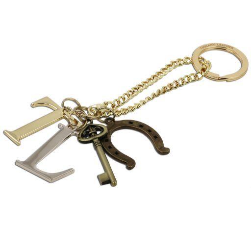 TL KeyLuck Borsa shopper in pelle Saffiano - Misura Grande Giallo TL141229