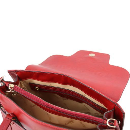 TL NeoClassic Lady leather handbag with twist lock Red TL141230