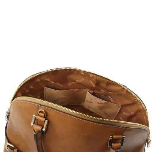 TL Bag Кожаная сумка с пряжками Темный серо-коричневый TL141235