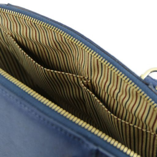 TL Bag Borsa a mano in pelle Saffiano con fibbie Rosso TL141236