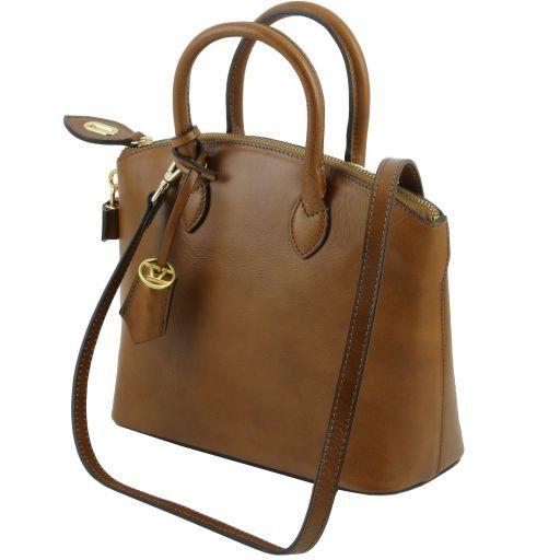 TL Bag Borsa shopper in pelle - Misura piccola Blu scuro TL141264