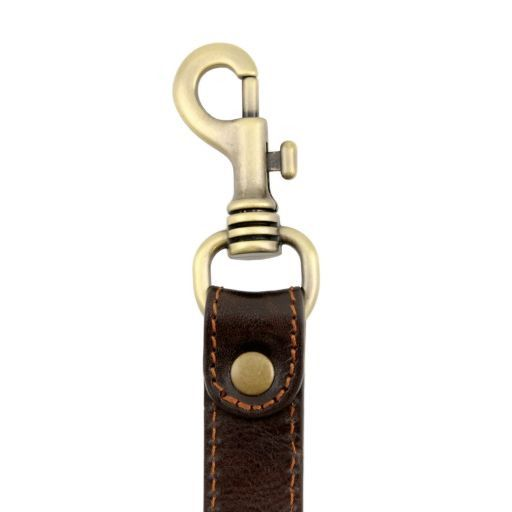 TL Voyager Adjustable leather shoulder strap Dark Brown SP141276