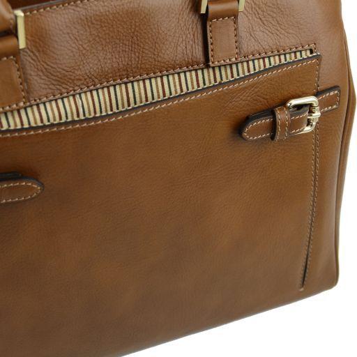 TL Bag Sac à main en cuir avec poche frontale Noir TL141280