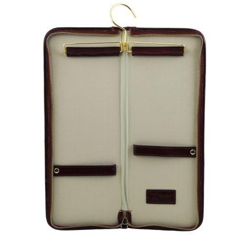 Elegante portacravatte da viaggio in pelle Testa di Moro TL141291