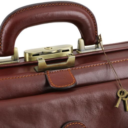 Bernini Exclusive leather doctor bag Brown TL141298