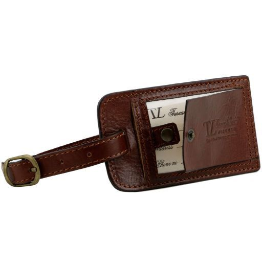 TL Voyager Borsa da viaggio in pelle con tasca frontale Miele TL141303