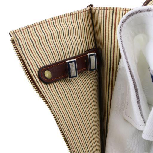 Exclusivo porta camisas en piel Marrón oscuro TL141307