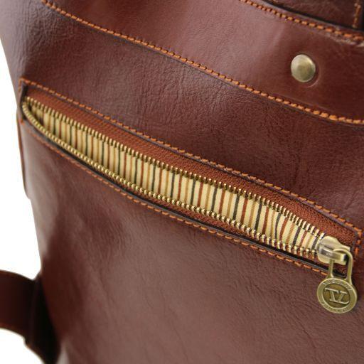 Osaka Leather laptop backpack Honey TL141308