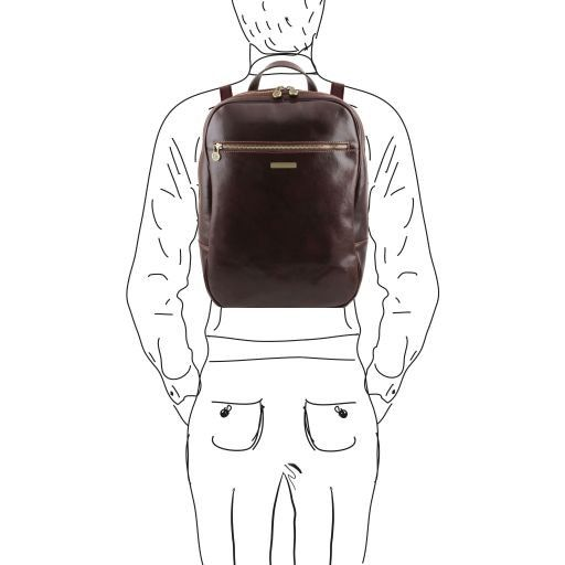 Osaka Zaino porta notebook in pelle Testa di Moro TL141308