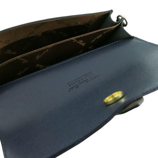 TL Bag Pochette in pelle Saffiano con tracolla sganciabile Giallo TL141317