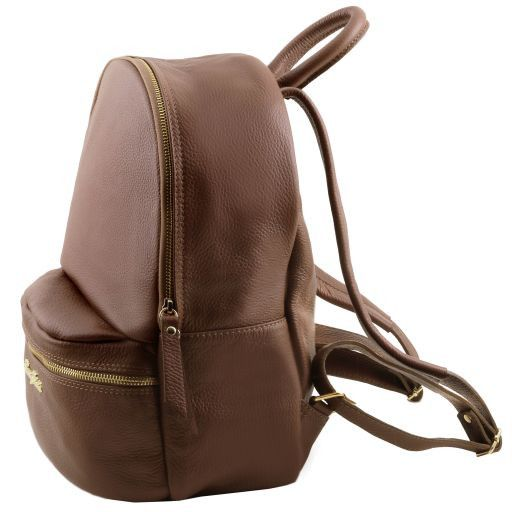 TL Bag Lederrucksack für Damen aus weichem Leder Blau TL141320