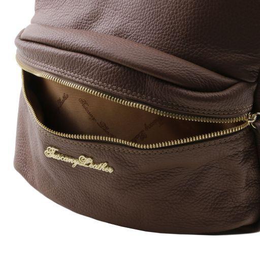 TL Bag Nuovo Zaino donna in pelle morbida Cognac TL141320