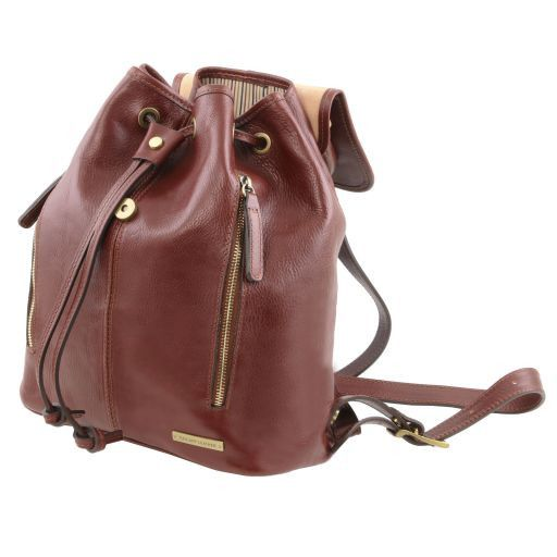 Jakarta Leather Backpack Dark Brown TL141341
