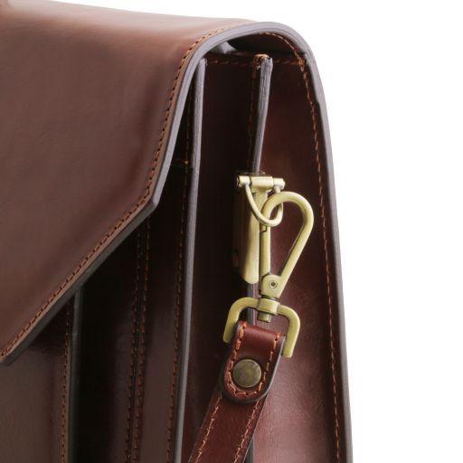 Roma Кожаный портфель на 3 отделения Мед TL141349