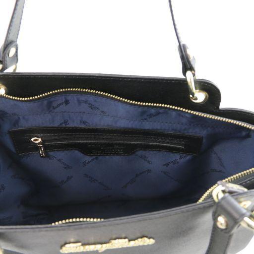 TL Bag Borsa shopper in pelle Saffiano con doppi manici Talpa chiaro TL141366