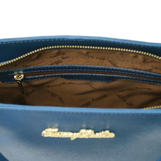 TL Bag Borsa a mano in pelle Saffiano con due manici Beige TL141367