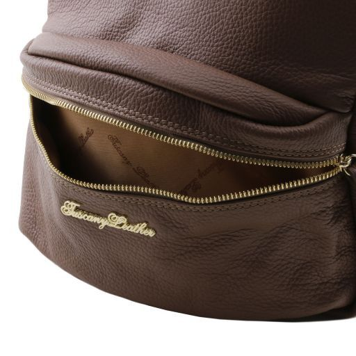 TL Bag Soft leather backpack for women Light Blue TL141370