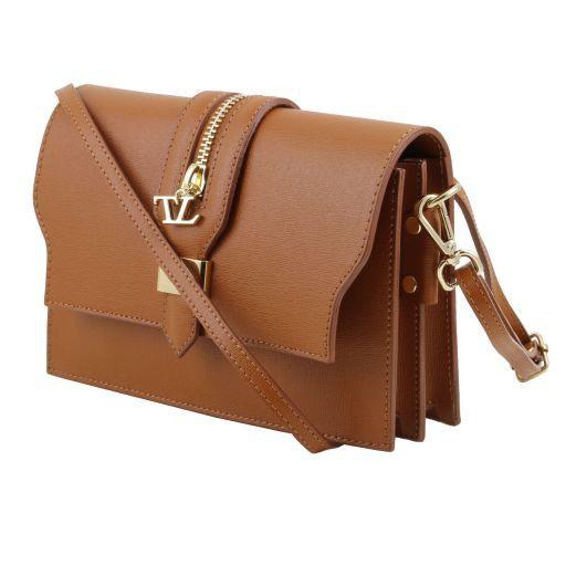 TL Bag Pochette in pelle Saffiano con tracolla sganciabile Giallo TL141398