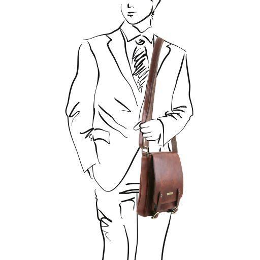 Roby Sac pour homme en cuir avec boucles Noir TL141406