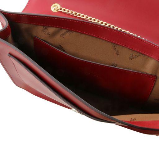 Iride Pochette in pelle con tracolla a catena Grigio chiaro TL141417