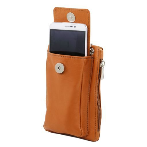 TL Bag Soft Leather cellphone holder mini cross bag Forest Green TL141423