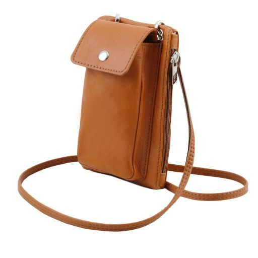 TL Bag Soft Leather cellphone holder mini cross bag Dark Blue TL141423