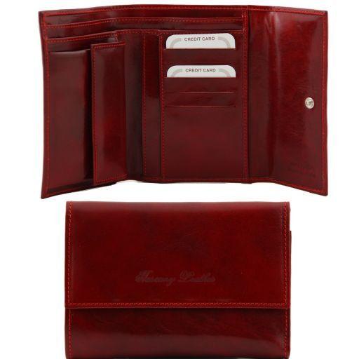 Esclusivo portafogli in pelle Rosso TL140785