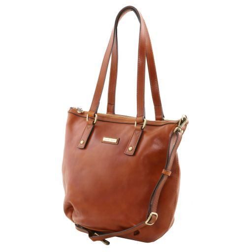 Olga Bolso shopping en piel - Tamaño grande Negro TL141484