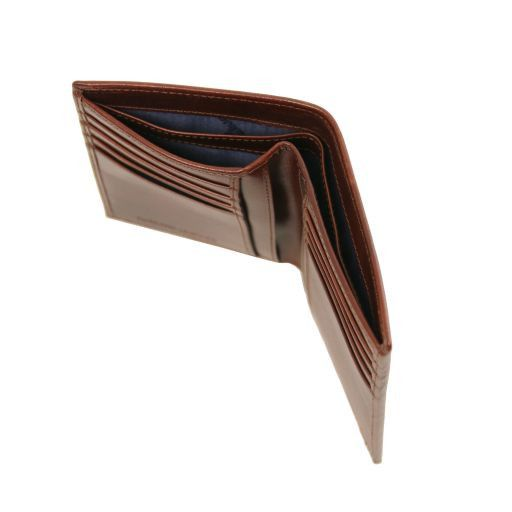 Esclusivo portafoglio verticale uomo in pelle 2 ante Testa di Moro TL141489