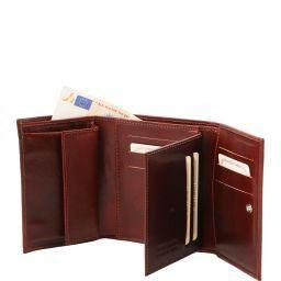 Esclusivo portafogli in pelle da donna 4 ante Testa di Moro TL140790