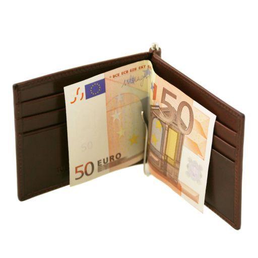 Exklusives Kredit Visitenkartenetui Aus Leder Mit Geldklammer Schwarz