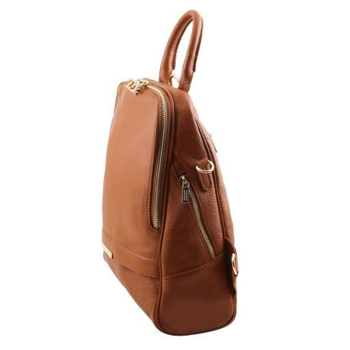 TL Bag Soft leather backpack for women Light Taupe TL141509