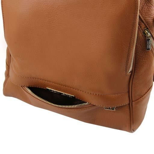 TL Bag Zaino donna in pelle morbida Cognac TL141509